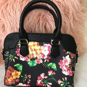 Flowered crossbody purse